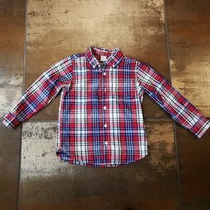 Gap 5T Button Down Cotton Plaid Shirt